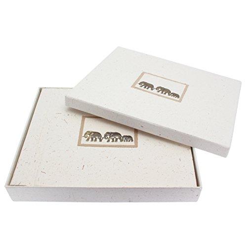 Fair Trade album portafotografie di sterco di elefante 325 x 255mm