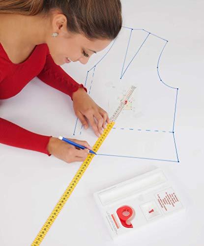Lutterloh-System, Der Goldene Schnitt, 280 Schnittmuster & Modelle inkl. Schneider- und Designerkurvenlineal aus Acryl
