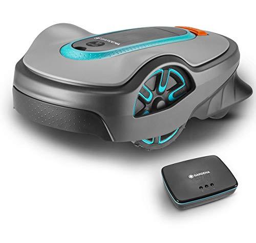 CCLLA Cortacésped robótico Smart Sileno Life Set, controlado a través de la aplicación Inteligente, silencioso, Incluye Puerta de Enlace Inteligente, Enchufe de alimentación del Reino Unido, hasta