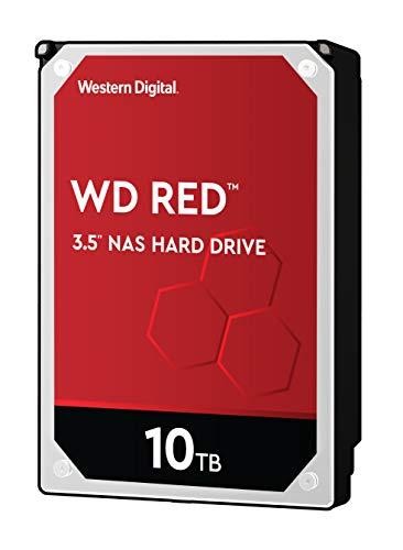 WD Networking NAS HDD 10TB Retail int (3,5 Pouces, Disque dur NAS, 5400 tr/min, SATA 6 Gbps, Technologie NASware, pour les Systèmes NAS en Fonctionnement Continu) Rouge