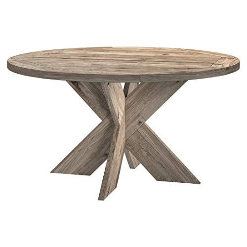 OUTLIV. Quantum Gartentisch rund Ø150 cm mit Gestell und Tischplatte aus recyceltem Teakholz für bis zu 6 Personen