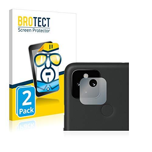 BROTECT Schutzfolie kompatibel mit Google Pixel 4a 5G (nur Kamera) (2 Stück) klare Displayschutz-Folie