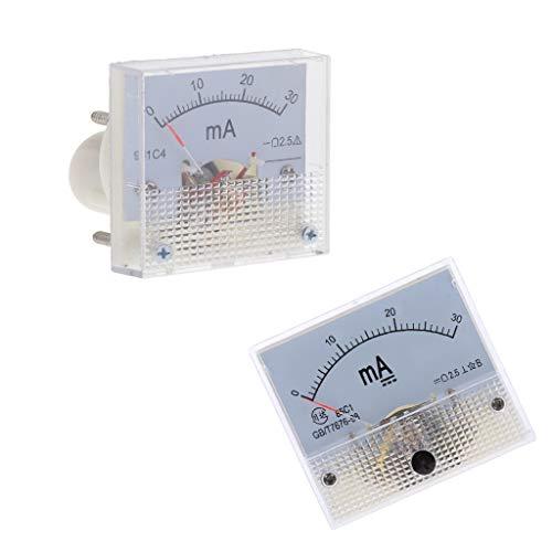 LOVIVER 2 Stücke Analog Current Panel Meter Amperemeter Für Stromkreisprüfung Ampere Tester Gauge DC 0 30mA