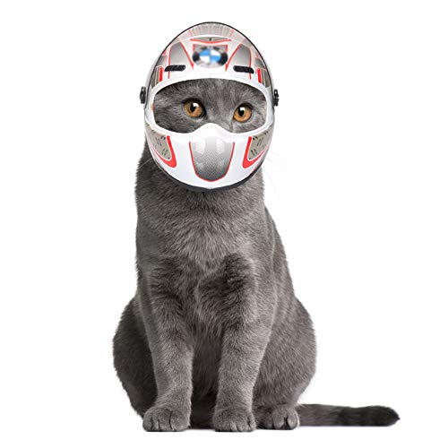 NICEWL Casco para Mascotas Perro, Ciclismo De Ciclismo De Seguridad para Sombrero...