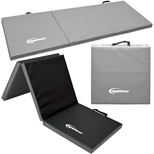 EYEPOWER 180x60 XL Turnmatte für Zuhause - Klappbar - 5cm Gymnastikmatte - Kinder Weichbodenmatte