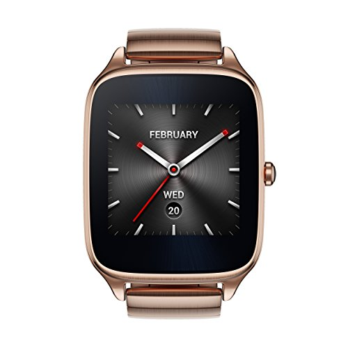 Asus Zenwatch 2 WI501Q-4MGLD0002 (4,1 cm (1,63 Zoll), Qualcomm Snapdragon, 320 x 320 pixels, Android, Amoled, 4GB, Metallarmband) rosegold