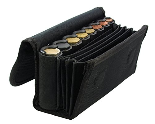 Kellnerbörse mit Geldwechsler Schwarz 380-010 Schaffnerbörse Euro Münzwechsler
