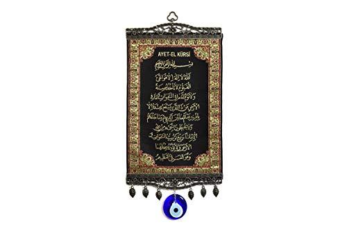 Remi Bijou Wanddeko Wandschmuck Deko aus Stoff und Metall mit Nazar Boncuk, Türkisches Auge (Ayet-EL Kuersi)