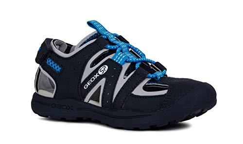 Geox VANIETT Boy J925XA Jungen Trekking Sandalen,Kinder Outdoor-Sandale,Sport-Sandale,geschlossener Zehenbereich,Navy/Turquoise,32