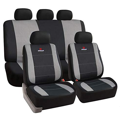 eSituro universal Sitzbezüge für Auto Schonbezug Schoner Komplettset schwarz/grau SCSC0112