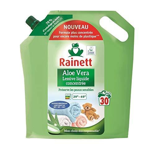 RAINETT - Lessive Liquide Concentree Aloe Vera 1.5L - Lot De 3