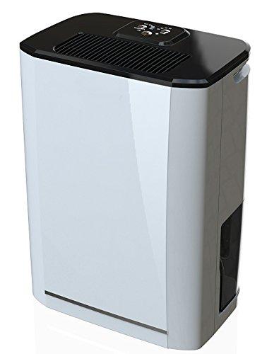 Ardes AR8D11 Deumidificatore SEKKO 11 Deumidifica 11 Litri al Giorno capacità Serbatoio 2.5 Litri 2 Drenaggi, Bianco/Nero, 11 L