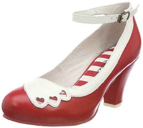 Lola Ramona Damen ELSA Pumps, Rot (Red/Cream), 38 EU