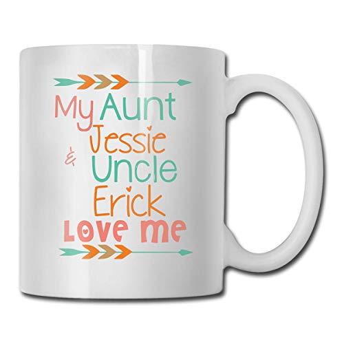 Mi tía y mi tío me aman taza de café divertida taza de té, ideas novedosas de regalos de cumpleaños para hombres mujeres amigo 11oz