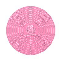 12 インチ 焼き物 再利用 耐久性 ニーディングパッド ベーキングマット シリコンペーストマット マット圧延 非棒(Pink)