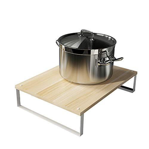 Étagère de la cuisinière à Induction, Table sur Socle, Couvercle de la cuisinière à gaz, Étagère de la Table de Cuisson, Étagère de la Cuisine, Couleur: E