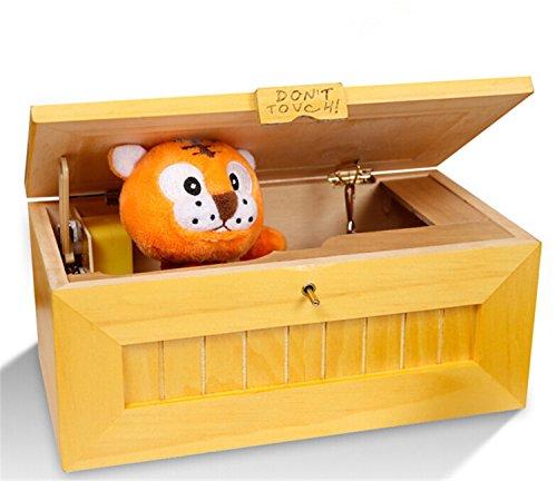 icase4u® Original Cartoon Tiger Useless Box,Kreative Adult Geschenke und praktische Witze Lustige Spielzeug für Freunde und Kinder,Holz (Version 2.0)