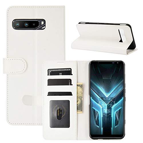 LTao-case [CND] ASUS ROG Phone 3 ZS661KS Funda, ASUS ROG Phone 3 ZS661KS Funda Flip Cuero de la PU+ Cover de Silicona Protección Fija 2
