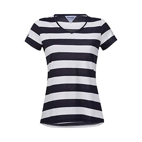 Bergans Bastoy W T-Shirt White/Navy Striped
