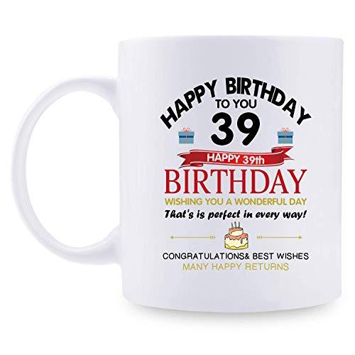 39. Geburtstagsgeschenke für Frauen - 1981 Geburtstagsgeschenke für Frauen, 39 Jahre alte Geburtstagsgeschenke Kaffeetasse für Mutter, Frau, Freund, Schwester, Sie, Kollegin,...