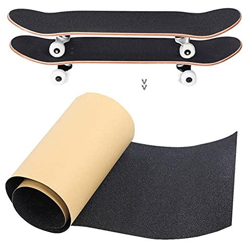 frenma Papel de Lija para patinetas, Papel de Lija áspero, Cinta de Agarre de PVC, Resistente y Duradero Antideslizante para Tabla de plátano, Tabla de Deriva, patineta eléctrica, Tabla de Surf,