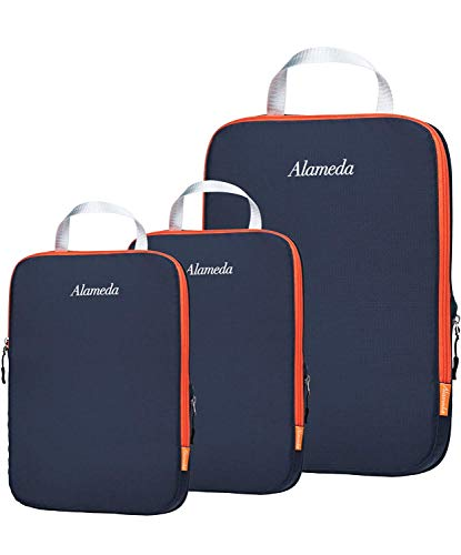 Alameda Compression Packing Cubes for Suitcases and Backpack,Luggage Travel Organiser Packing Bags Set(Dark Grey)