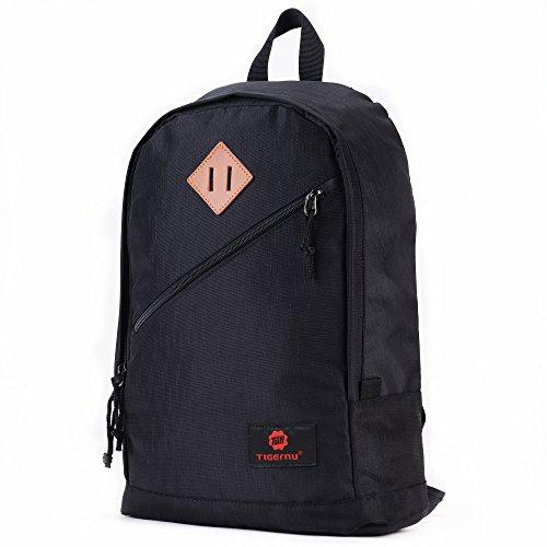 Fubevod Bambini Ragazzi Ragazzi Scuola zaino del sacchetto di libro casuale borsa da viaggio Daypack nero