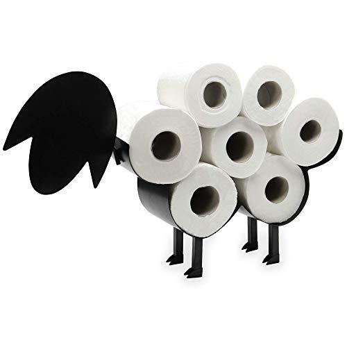 Toilettenpapierhalter für Schafe | Freistehender Toilettenpapierständer | Toilettenzubehör aus Metall | Fun Badzubehör | Pukkr