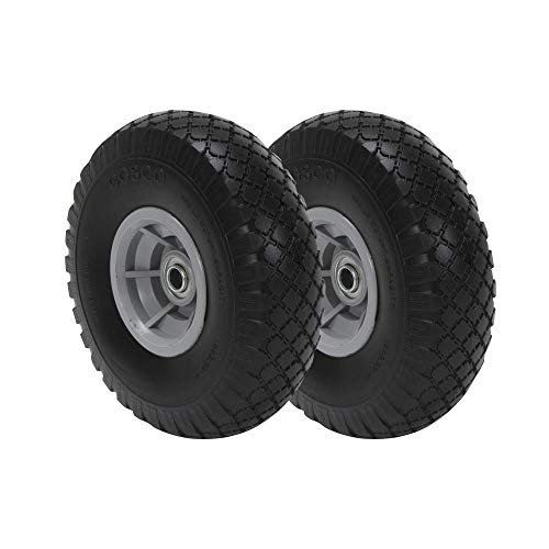 CoscoProducts COSCO 10-Inch Flat-Free Replacement Wheel for Hand Trucks, 2-Pack