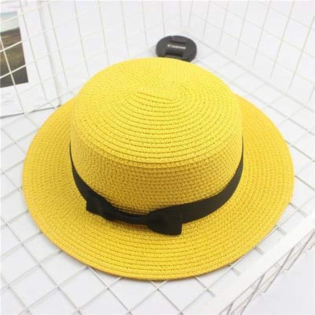 リネンラッシュ発掘するファッション親子太陽の帽子かわいい子供の太陽の帽子弓手作り女性ストローキャップビーチ大きなつばの帽子カジュアルな女の子夏キャップ