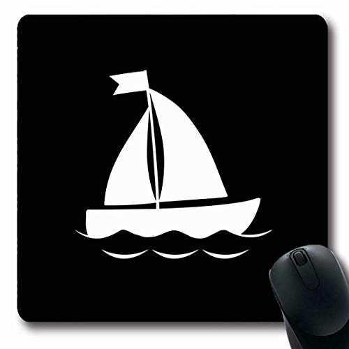 Mousepad Mousemat Segelboot Anker Anker Lenkrad Abstrakte Farbe Braun Zeichnung Endless Geometric Graphic Shape rutschfeste Gaming Mouse Pad 25X30CM