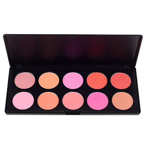 Starmood - Paleta de maquillaje en polvo para colorete, 10 colores