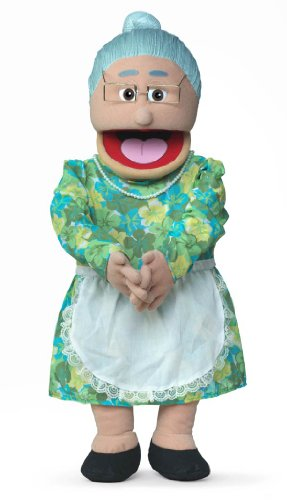 30' Granny, Hispanic Grandmother, Professional Performance Puppet with Removable Legs, Full or Half Body