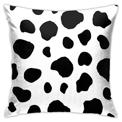 Antvinoler Kuh-Punkte-Kissenbezug, weich, doppelseitig, Digitaldruck, Couch-Kissenbezug, quadratisch, 45 cm x 45 cm