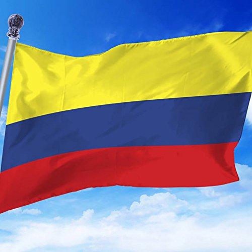 Kolumbien Fahne 90 X 150cm, Moresave WM-Flaggen 2018 Polyester Wetterfeste Mehrfarbige Flaggen