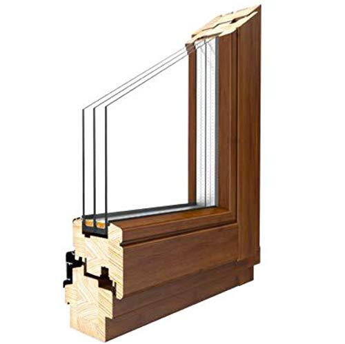 Holzfenster Drutex Softline 68 Meranti Holz Fenster alle Größen, Anschlag:DIN Links, BxH:1200x1400 (120x140 cm), Glas:2-Fach