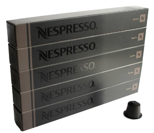 Nespresso, 50 Kapseln - 5 x 10 Kapseln Espresso Roma