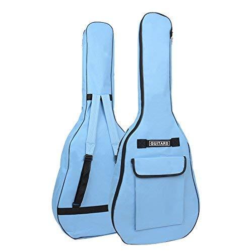 OriGlam Bolsa para guitarra acústica de 106 cm, bolsa de guitarra con doble correa ajustable para el hombro, bolsa para conciertos de guitarra acústica, impermeable, 5 mm, funda acolchada (azul)