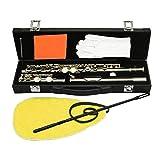 Bnineteenteam Flauta de 16 Agujeros C, Flauta Desmontable con Guantes Destornillador Caja de Cuero de PU y Juego de Herramientas de Limpieza para Flauta Amante(Oro)
