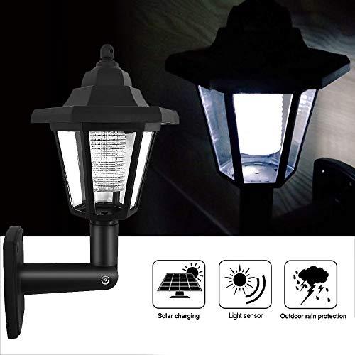 Lixada Solar Wandlamp LED Sensor Lamp Hexagonal Tuinhek Lamp geschikt voor hekken buiten, tuinpaden Landschap Pool