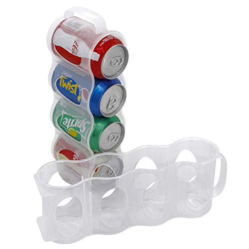 2er Set tragbare Getränkedosen-Halter für Kühlschrank, Dosenhalter, Aufbewahrungsbox für Dosen, durchsichtiger Kunststoff