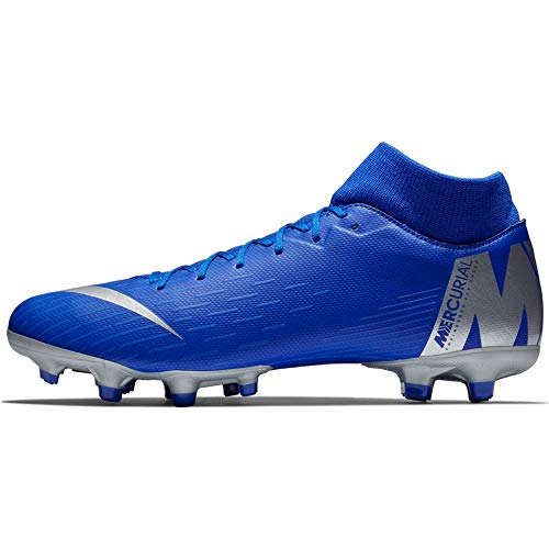 Nike Superfly 6 Academy MG Mens Football Boots AH7362 Soccer Cleats (UK 10 US 11 EU 45, Racer Blue Metallic Silver 400)