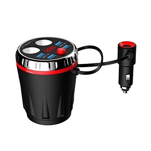 N\A Auto Leichter Tablet Dual-Zigaretten-Feuerzeug elektronisches Feuerzeug-Splitter Car Cup Max 5V 3.1A 4 USB Car Charger qualitätssicherung (Color Name : Red)