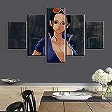 FGDMGM lienzos Decorativos Buscador del Mundo del Anime Salon dormitorios Artística Cuadros Decoracion XXL Modernos Home lienzos Decorativos 5 Piezas con Marco 150x80 cm