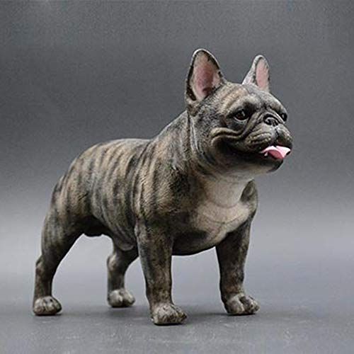 AINIYF French Bulldog Sculpture | Hand-Made and Painted | Pet Portrait Dog Statue Figurine Memorial | French Bulldog Collectibles | French Bulldog Art/7.87x6.7x3.54inches (Color : #7)