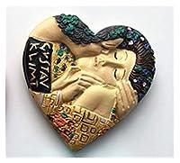 冷蔵庫用マグネット 世界旅行お土産冷蔵庫マグネットボストンドイツスイスカッコウ時計樹脂磁気冷蔵庫ステッカーホーム装飾 (Color : Van Gogh painting)