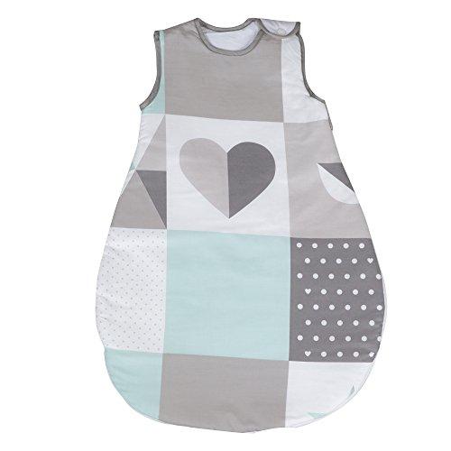 roba Schlafsack, 70cm, Babyschlafsack ganzjahres/ganzjährig, aus atmungsaktiver Baumwolle, unisex, Kollektion \'Happy Patch\'
