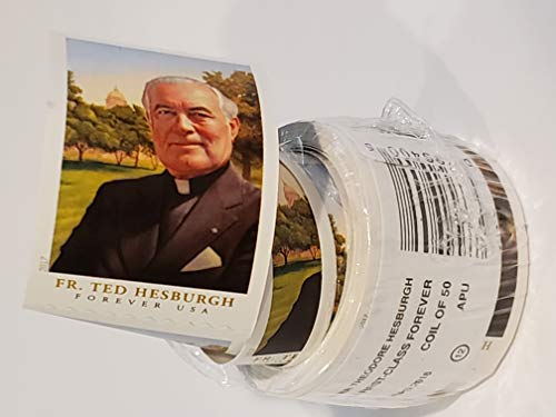 USPS Forever Stamps Roll of 50 - Father Theodore Hesburgh Postage Stamps