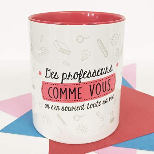 Nos pensées - Taza con Frase y Dibujo Divertido - Regalo Original (Diseño Profes R.) (Francés)