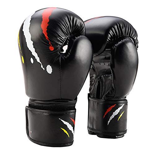Guantoni da boxe per bambini set 6 once   Guanti da boxe per bambini   Guanti MMA   Da 6 a 12 anni   Muay Thai   Taekwondo   Sanda Fight   Rosso Bianco Nero Blu